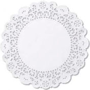 """Brooklace Lace Doilies, Round, 5"""", White, 2000 ct"""