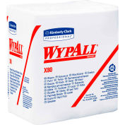 "Wypall X80 Hydroknit Wipes 1/4 Fold, 12-1/2' x 13"", White 50 Wipes/Pack 4/Case - KIM41026"