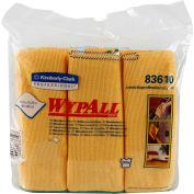 "Wypall Cloths With Microban Microfiber 15-3/4"" x 15-3/4"", Yellow 6 Wipes/Pack 4/Case - KIM83610CT"