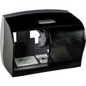"Corelss Double Roll Tissue Dispenser For 5"" Rolls 11-1/10"" x 6"" x 7-5/8"", Smoke - KIM09604"