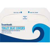 Boardwalk Premium 1/2 Fold Toilet Seat Covers, 250 Covers/Sleeve 4/Case BWKK1000