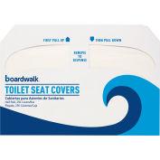 Boardwalk Premium 1/2 Fold Toilet Seat Covers, 250 Covers/Sleeve 4/Case - BWKK1000
