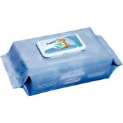 """Pudgies Baby Wipes Unscented 6-1/2"""" x 9"""", White 80 Wipes/Pack 12/Case - NICA630FW"""