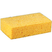 """Premiere Large Cellulose Sponge 3-2/3"""" x 6"""" x 1-1/2"""", Yellow 24/Case - PMPCS2"""