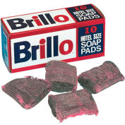 Brillo Steel Wool Soap Pads, 10 Pads/Box 12/Case - PUXW240000CT