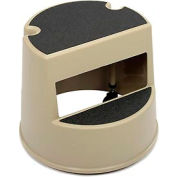 Rubbermaid® Commercial Mobile Two-Step Step Stool Beige - FG252300BEIG