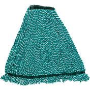 "Web Foot® Microfiber Wet Mop W/ 1"" Headband, Green 6/Pack - RCPA81206GRE"