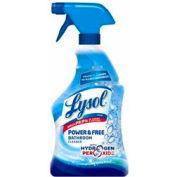 Lysol® Power & Free Bathroom Cleaner W/ Peroxide Cool Spring, 22 Oz Spray 12/Case - RAC85668CT