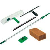 Unger Pro Window Kit W/ 8' Pole, Scrubber, Squeegee, Scraper & Sponge - UNGPWK00