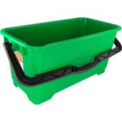 Unger Heavy-Duty Plastic Pro Bucket, Green 6 Gallons - UNGQB220
