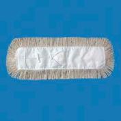 "48"" x 5"" Industrial Cut-End Hygrade Cotton Dust Mop Head, White - UNS1348"