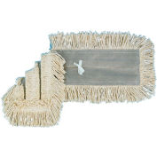 """24"""" x 5"""" Cotton/Synthetic Disposable Dust Mop Head, White - BWK1624"""