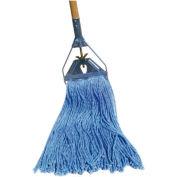16 Oz. Standard Cut-End Cotton/Synthetic Fiber Wet Mop, Blue 12/Pack - BWK2020B