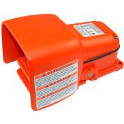 Linemaster 531-SWHO Hercules Foot Switch W/Oversized Shield, Momentary, Orange, Cast Iron/Aluminum
