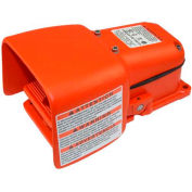 Linemaster 571-DWH Hercules Foot Switch W/Full Shield, Maintained, Orange, Cast Iron/Aluminum