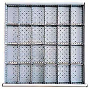 """SC Drawer Layout, 24 Compartments 2"""" H"""