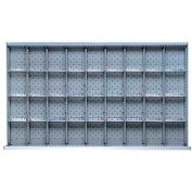 """MW Drawer Layout, 36 Compartments 3"""" H"""