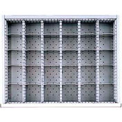 """ST Drawer Layout, 30 Compartments 3"""" H"""
