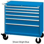 "Lista 40-1/4""W Mobile Cabinet, 6 Drawers, 84 Compart - Classic Blue, No Lock"