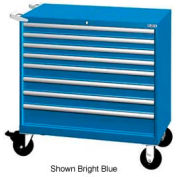 "Lista 40-1/4""W Mobile Cabinet, 8 Drawers, 129 Compart - Bright Blue, No Lock"
