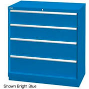 "Lista 40-1/4""W Drawer Cabinet, 4 Drawer, 24 Compart - Bright Blue, Master Keyed"