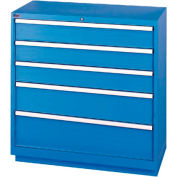 Lista® 5 Drawer Shallow Depth Cabinet - Blue, Individual Lock