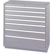 Lista® 7 Drawer Shallow Depth Cabinet - Gray, Keyed Alike