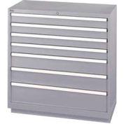Lista® 7 Drawer Shallow Depth Cabinet - Gray, No Lock