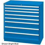 """Lista 40-1/4""""W Drawer Cabinet, 8 Drawer, 117 Compart - Bright Blue, Individual Lock"""
