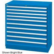 "Lista 40-1/4""W Drawer Cabinet, 10 Drawer, 162 Compart - Bright Blue, Master Keyed"