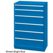 "Lista 40-1/4""W  Cabinet, 6 Drawer, 42 Compart - Bright Blue, Keyed Alike"