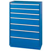 "Lista® 7 Drawer Shallow Depth, 59-1/2""H - Blue, Keyed Alike"