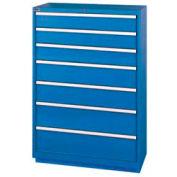 "Lista® 7 Drawer Shallow Depth, 59-1/2""H Cabinet - Blue, Master Keyed"
