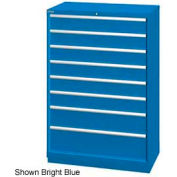"Lista 40-1/4""W  Cabinet, 8 Drawer, 84 Compart - Bright Blue, Keyed Alike"