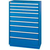 "Lista® 9 Drawer Shallow Depth, 59-1/2""H - Bright Blue, Master Keyed"