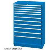 "Lista 40-1/4""W  Cabinet, 11 Drawer, 162 Compart - Bright Blue, Keyed Alike"