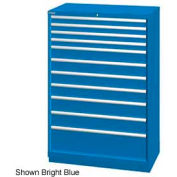 "Lista 40-1/4""W  Cabinet, 11 Drawer, 162 Compart - Bright Blue, No Lock"