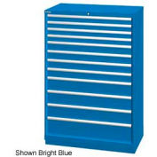 "Lista 40-1/4""W  Cabinet, 12 Drawer, 174 Compart - Bright Blue, Individual Lock"