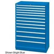 "Lista 40-1/4""W  Cabinet, 12 Drawer, 174 Compart - Classic Blue, No Lock"