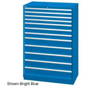 "Lista 40-1/4""W  Cabinet, 12 Drawer, 177 Compart - Bright Blue, No Lock"