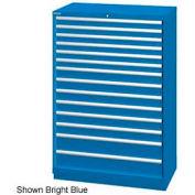 "Lista 40-1/4""W  Cabinet, 14 Drawer, 222 Compart - Bright Blue, No Lock"
