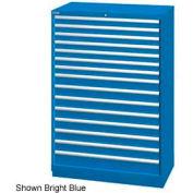 "Lista 40-1/4""W  Cabinet, 15 Drawer, 243 Compart - Bright Blue, Master Keyed"
