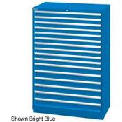 "Lista 40-1/4""W  Cabinet, 16 Drawer, 270 Compart - Bright Blue, Keyed Alike"