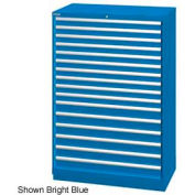 "Lista 40-1/4""W  Cabinet, 16 Drawer, 270 Compart - Bright Blue, Master Keyed"