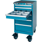 """Lista® 6 Drawer 22-3/16""""W Mobile Cabinet - Classic Blue"""