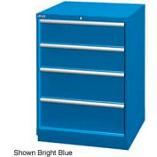 "Lista 28-1/4""W Drawer Cabinet, 4 Drawer, 26 Compart - Bright Blue, Individual Lock"