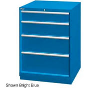 "Lista 28-1/4""W Drawer Cabinet, 4 Drawer, 29 Compart - Bright Blue, Keyed Alike"