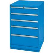 Lista® 5 Drawer Standard Width Cabinet - Bright Blue, No Lock