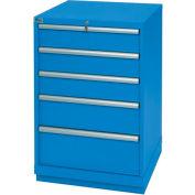 Lista® 5 Drawer Standard Width Cabinet - Blue, Individual Lock