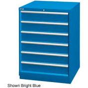 "Lista 28-1/4""W Drawer Cabinet, 6 Drawer, 72 Compart - Bright Blue, Keyed Alike"